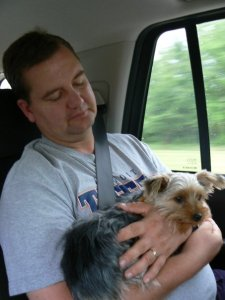 Dave and Artie the day we got him.